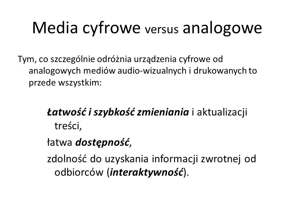 Media cyfrowe versus analogowe