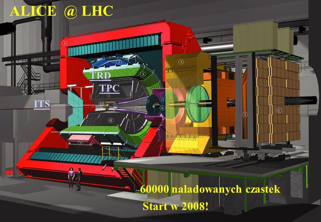 ALICE @ LHC TRD TPC ITS 60000 naladowanych czastek Start w 2008!