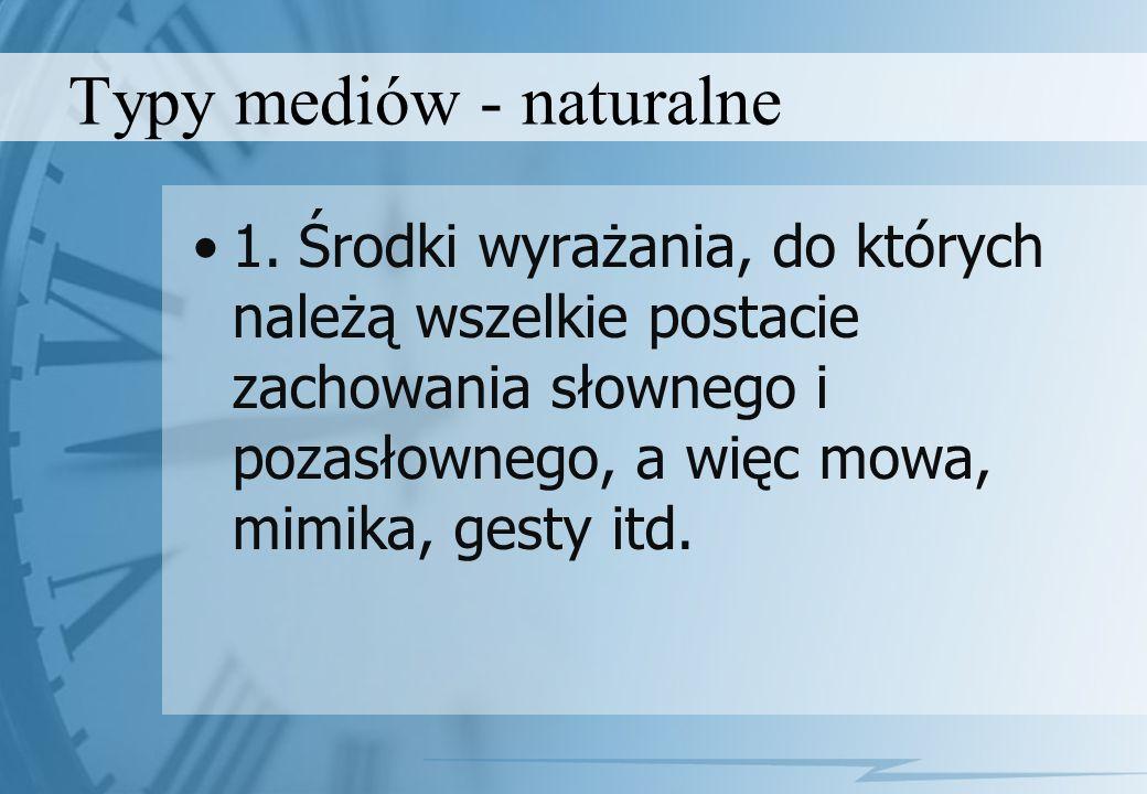 Typy mediów - naturalne