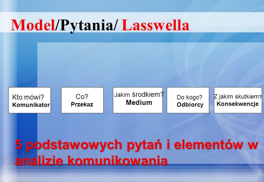 Model/Pytania/ Lasswella