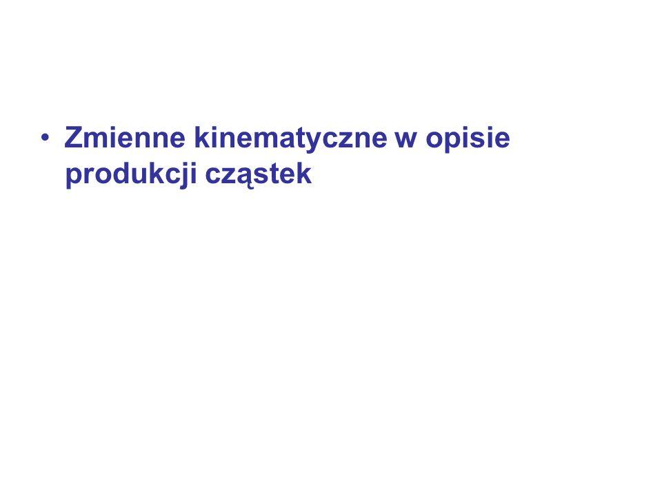 Zmienne kinematyczne w opisie produkcji cząstek