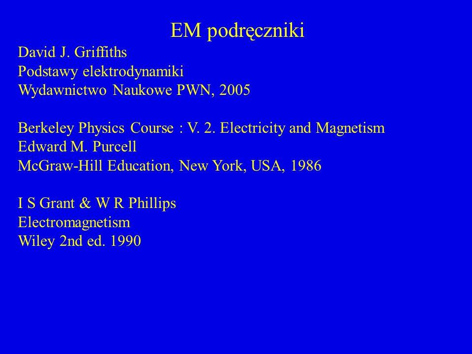 EM podręczniki David J. Griffiths Podstawy elektrodynamiki