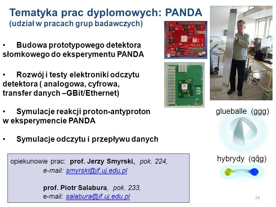 Tematyka prac dyplomowych: PANDA