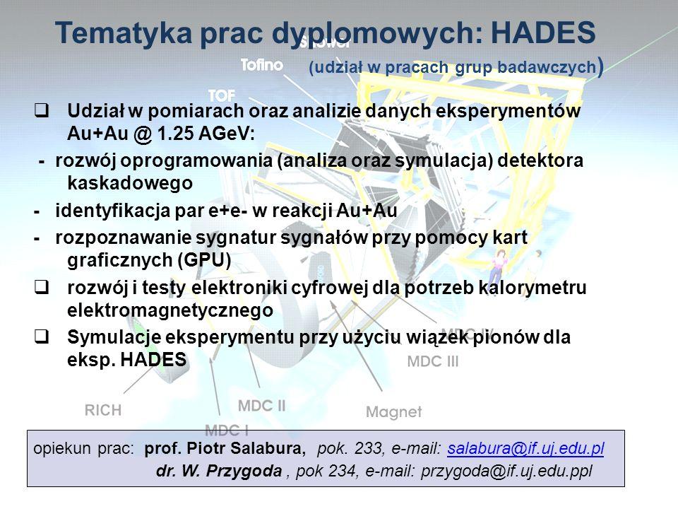 Tematyka prac dyplomowych: HADES