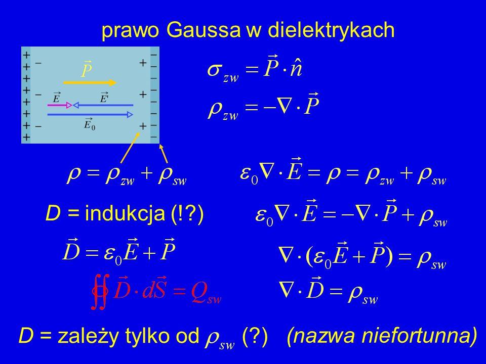 prawo Gaussa w dielektrykach