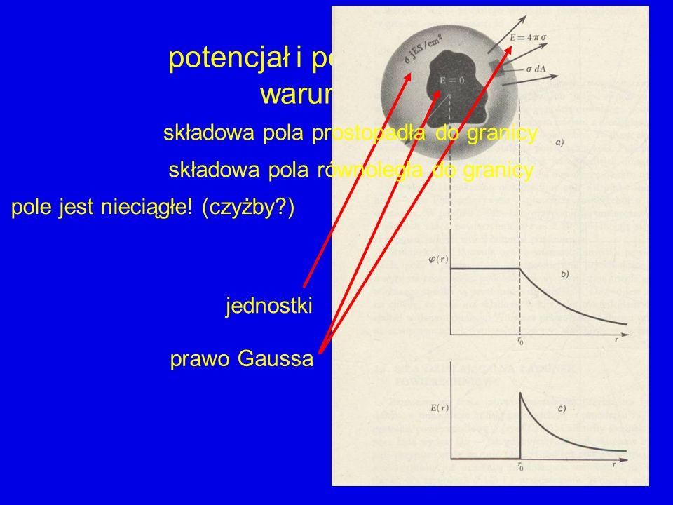 potencjał i pole elektrostatyczne warunki brzegowe