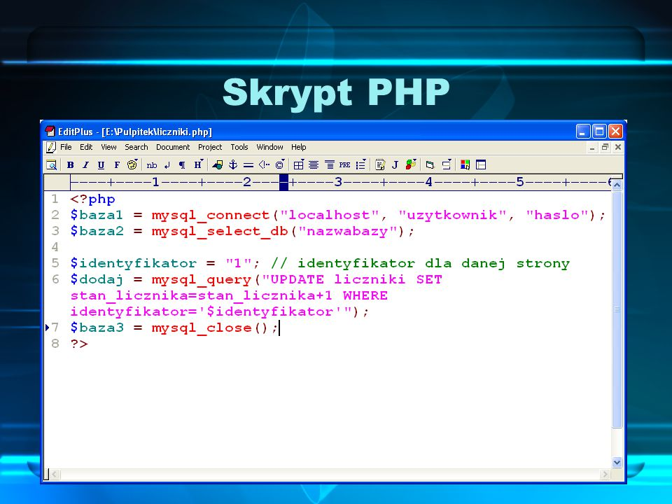 Skrypt PHP