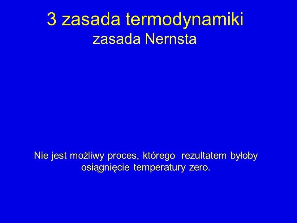 3 zasada termodynamiki zasada Nernsta