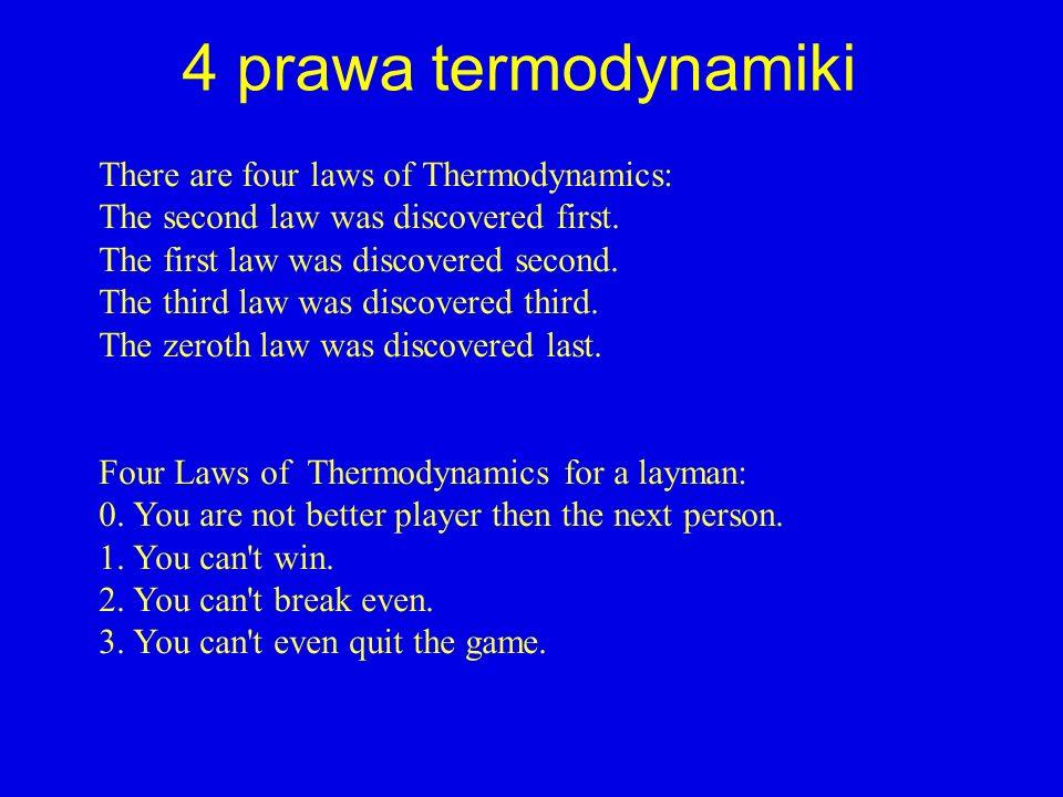 4 prawa termodynamiki