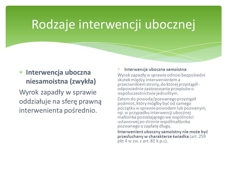 Rodzaje interwencji ubocznej
