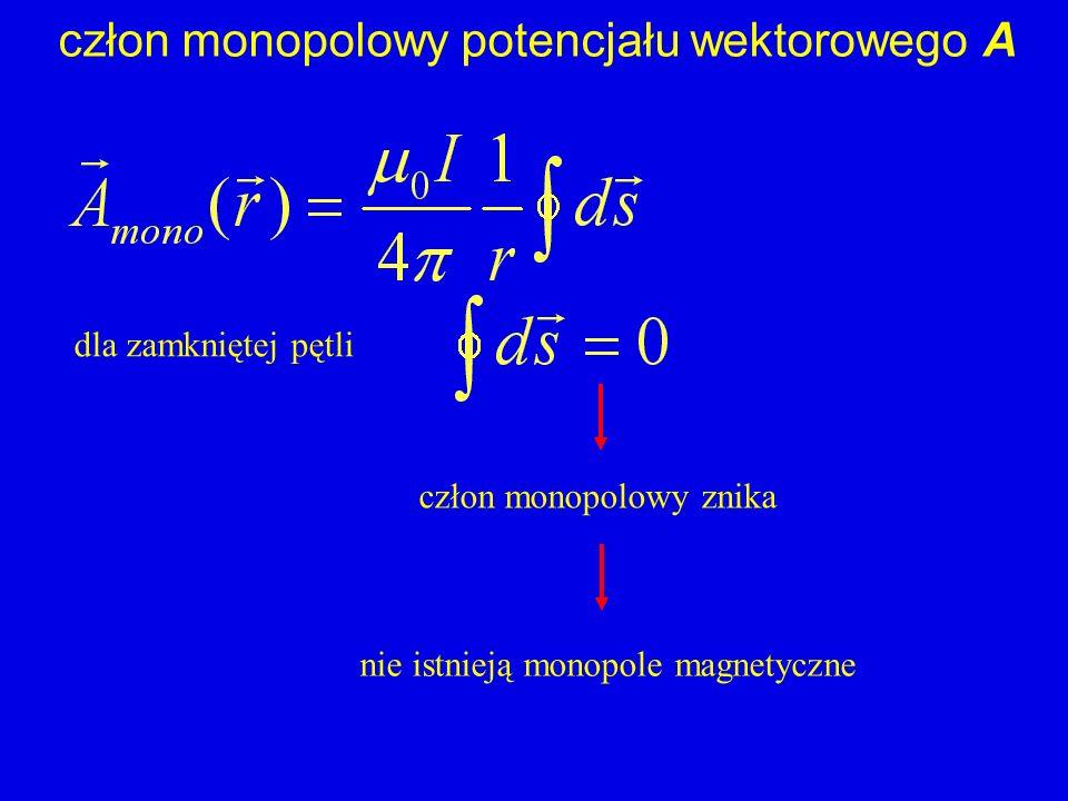 człon monopolowy potencjału wektorowego A