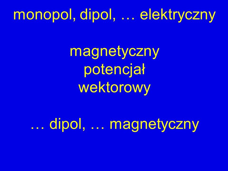 monopol, dipol, … elektryczny