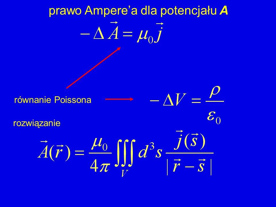 prawo Ampere'a dla potencjału A