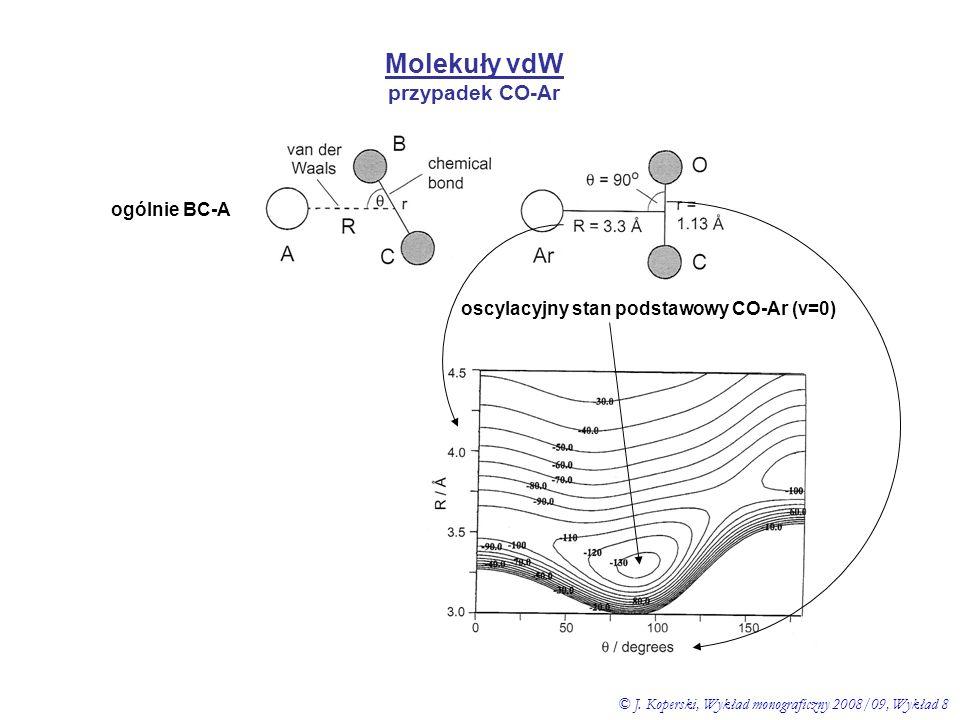 oscylacyjny stan podstawowy CO-Ar (v=0)