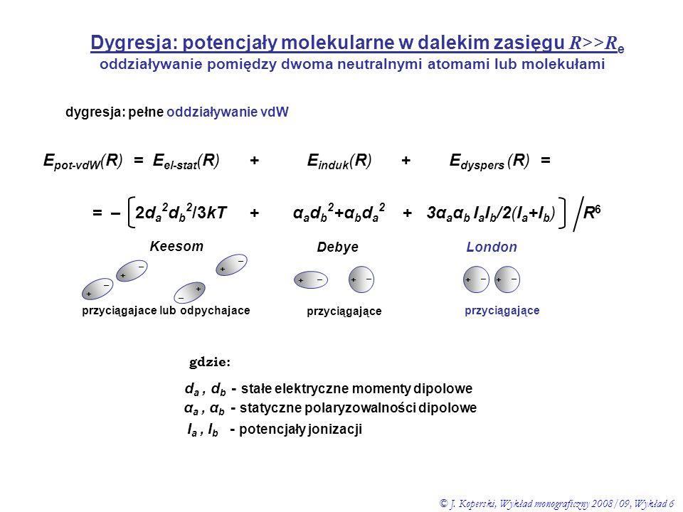 Dygresja: potencjały molekularne w dalekim zasięgu R>>Re