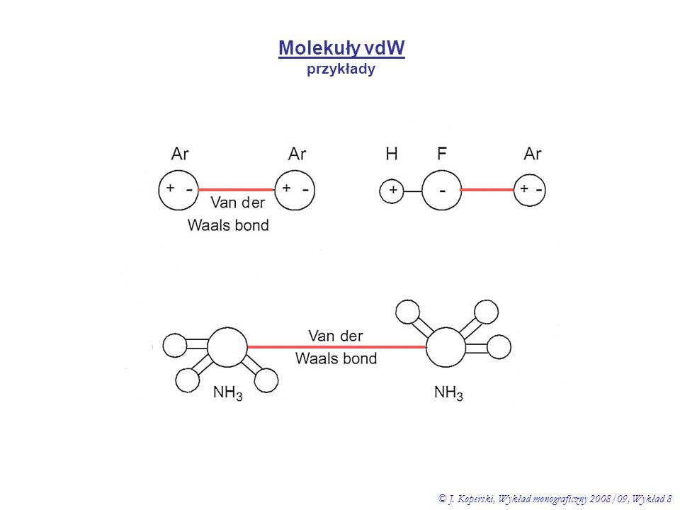Molekuły vdW przykłady