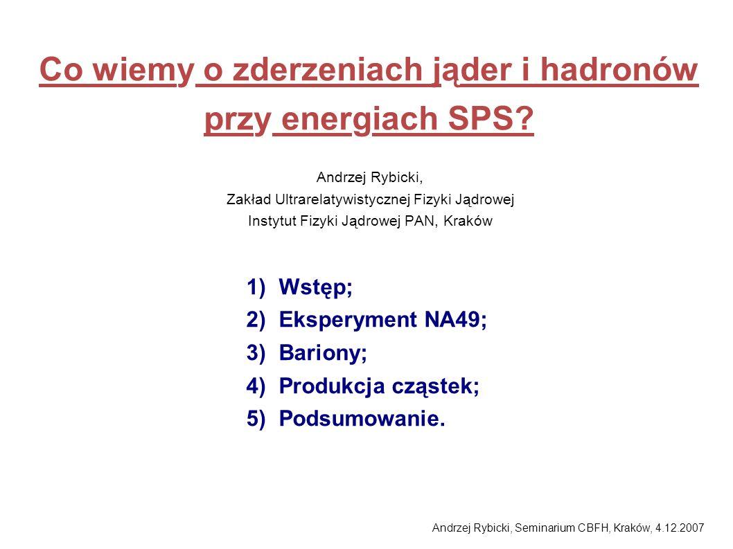 Co wiemy o zderzeniach jąder i hadronów przy energiach SPS