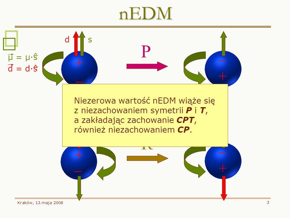 nEDM P T R _ + _ + _ + _ + d s μ = μ·s d = d·s