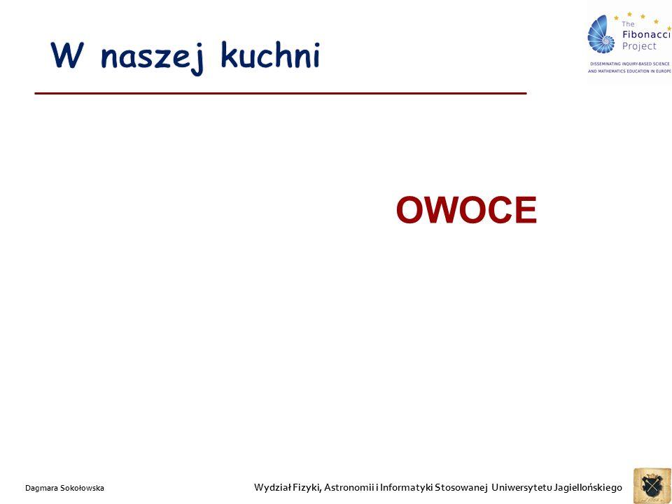 W naszej kuchni OWOCE. Dagmara Sokołowska.