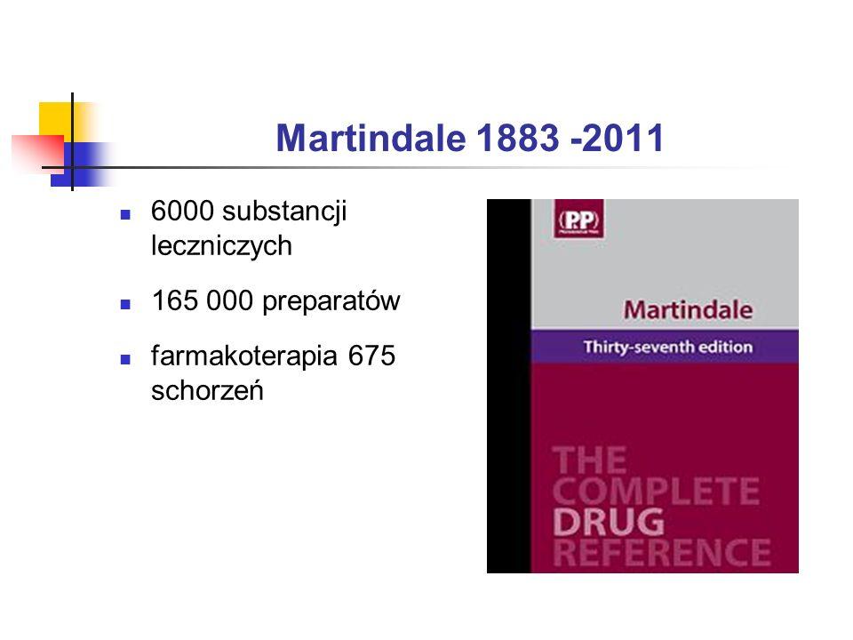 Martindale 1883 -2011 6000 substancji leczniczych 165 000 preparatów