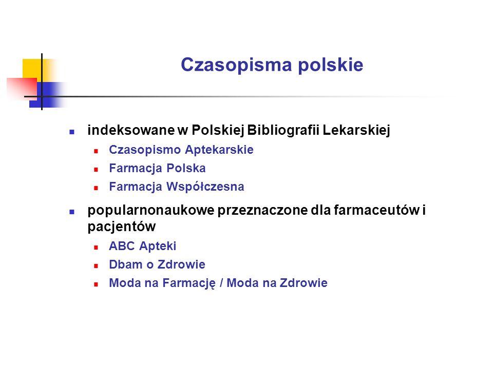 Czasopisma polskie indeksowane w Polskiej Bibliografii Lekarskiej