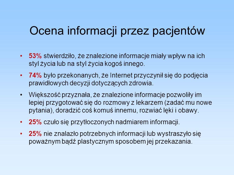 Ocena informacji przez pacjentów