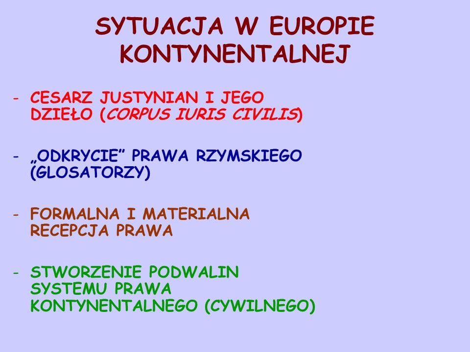 SYTUACJA W EUROPIE KONTYNENTALNEJ