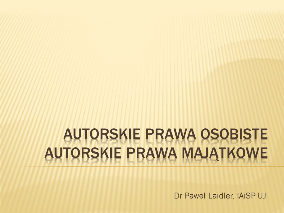 Dr Paweł Laidler, IAiSP UJ