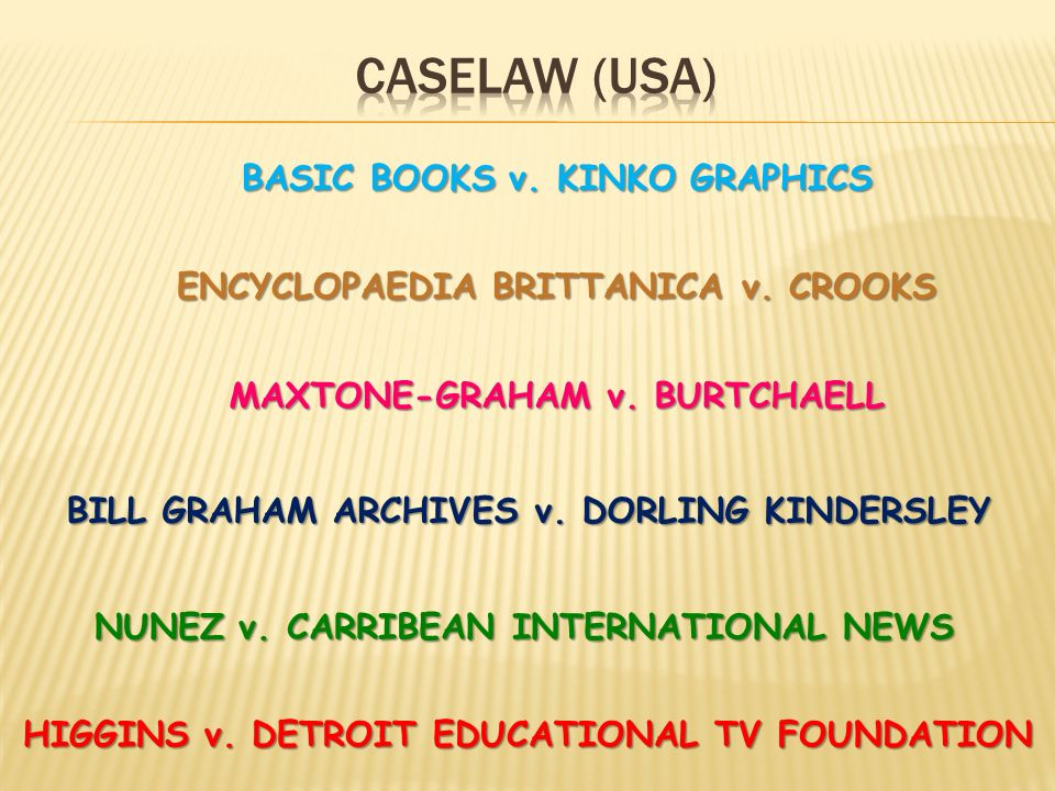 Caselaw (usa) BASIC BOOKS v. KINKO GRAPHICS