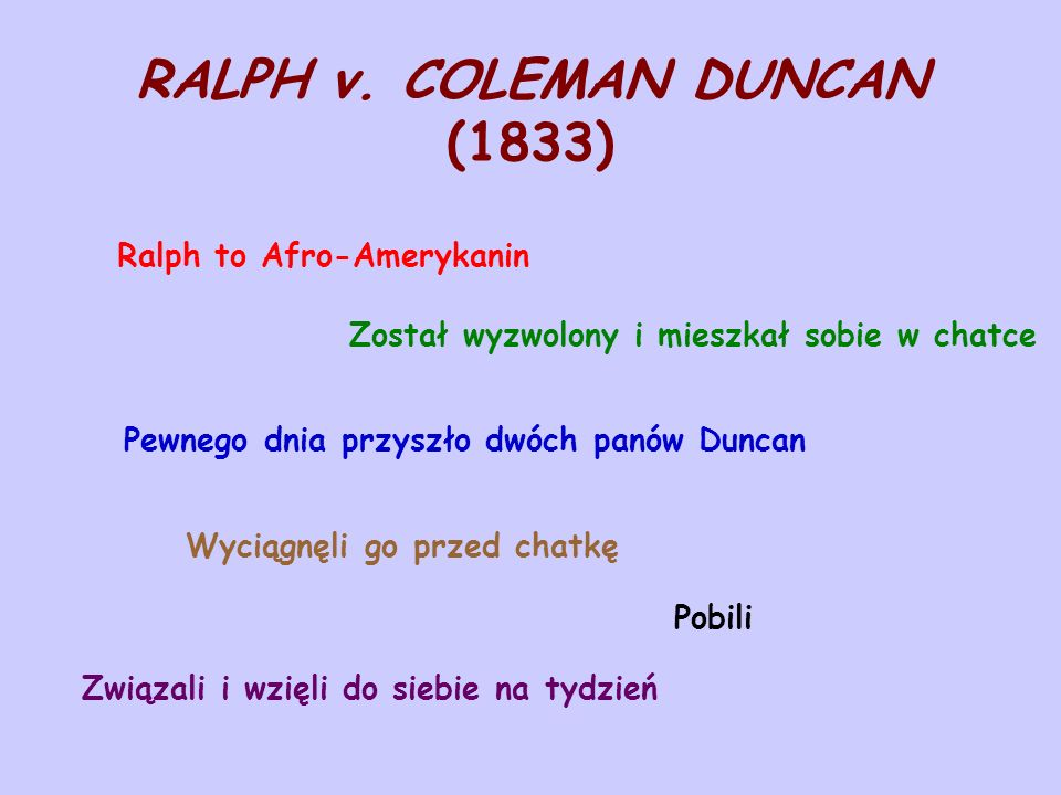 RALPH v. COLEMAN DUNCAN (1833)