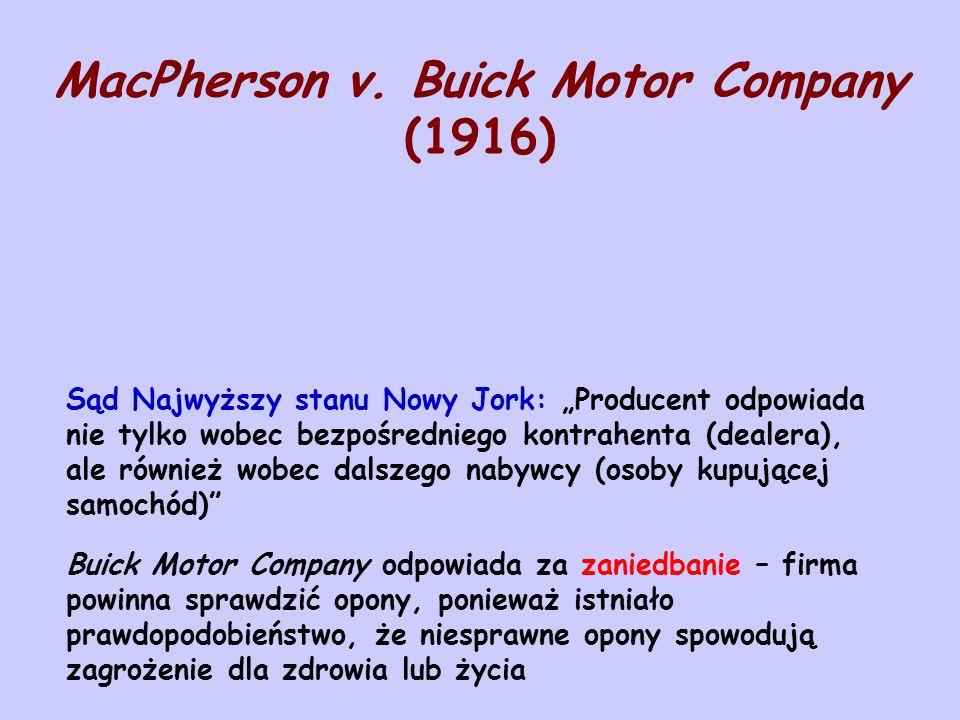 MacPherson v. Buick Motor Company (1916)