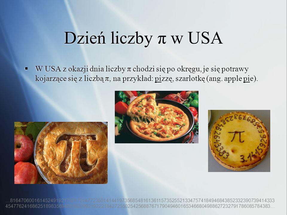 Dzień liczby π w USA
