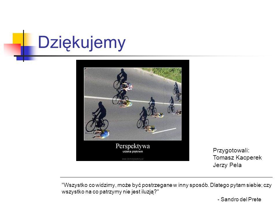 Dziękujemy Przygotowali: Tomasz Kacperek Jerzy Pela