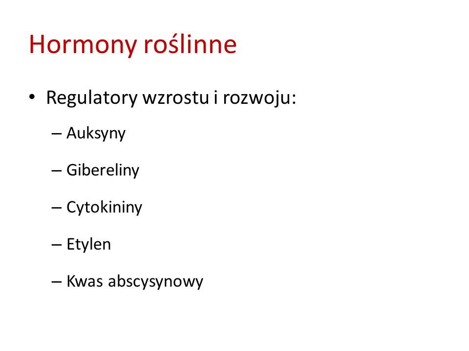 Hormony roślinne Regulatory wzrostu i rozwoju: Auksyny Gibereliny