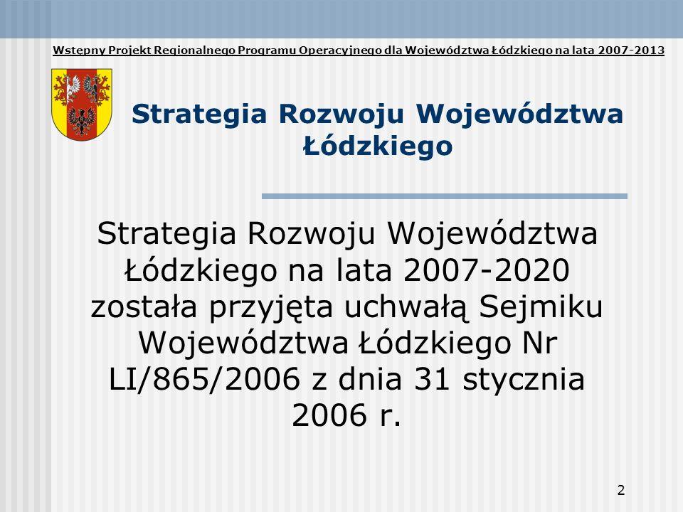 Strategia Rozwoju Województwa Łódzkiego