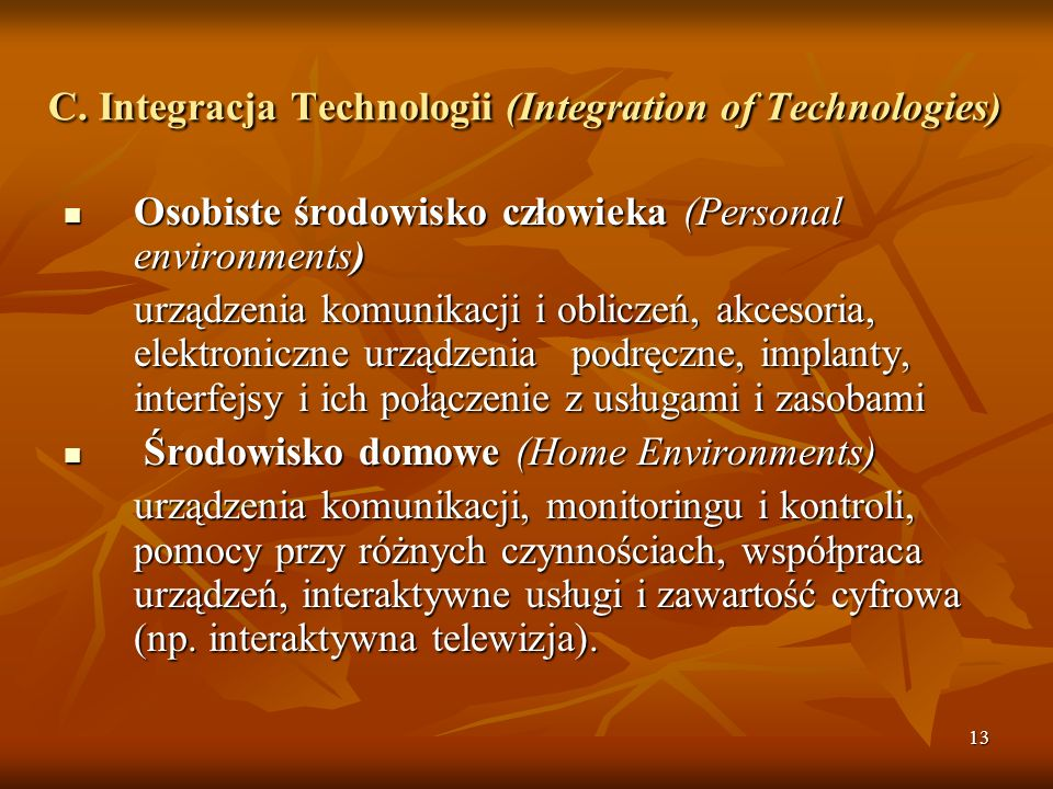 C. Integracja Technologii (Integration of Technologies)