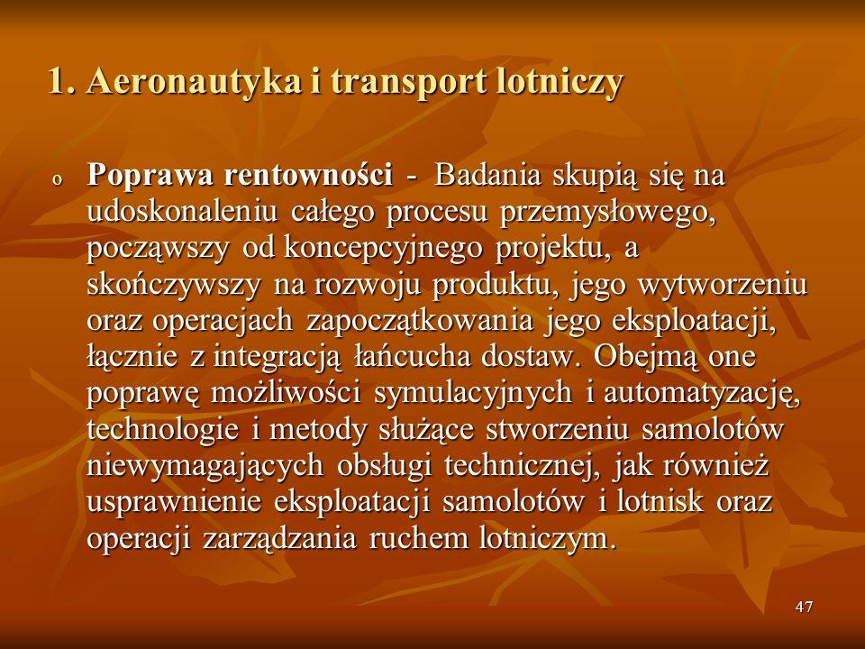 1. Aeronautyka i transport lotniczy