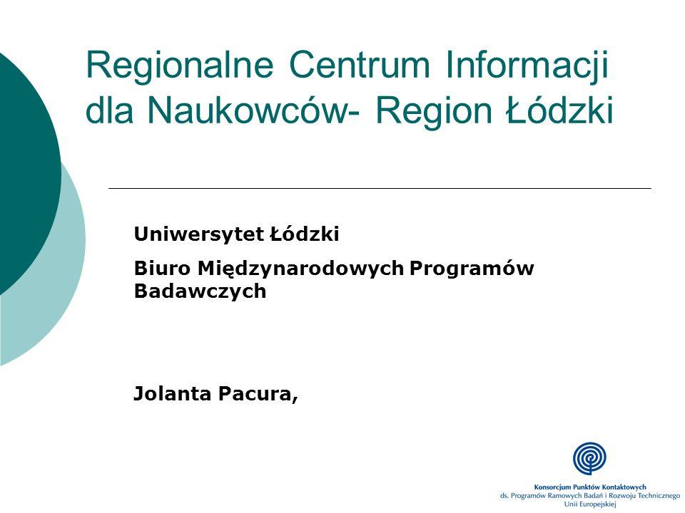 Regionalne Centrum Informacji dla Naukowców- Region Łódzki