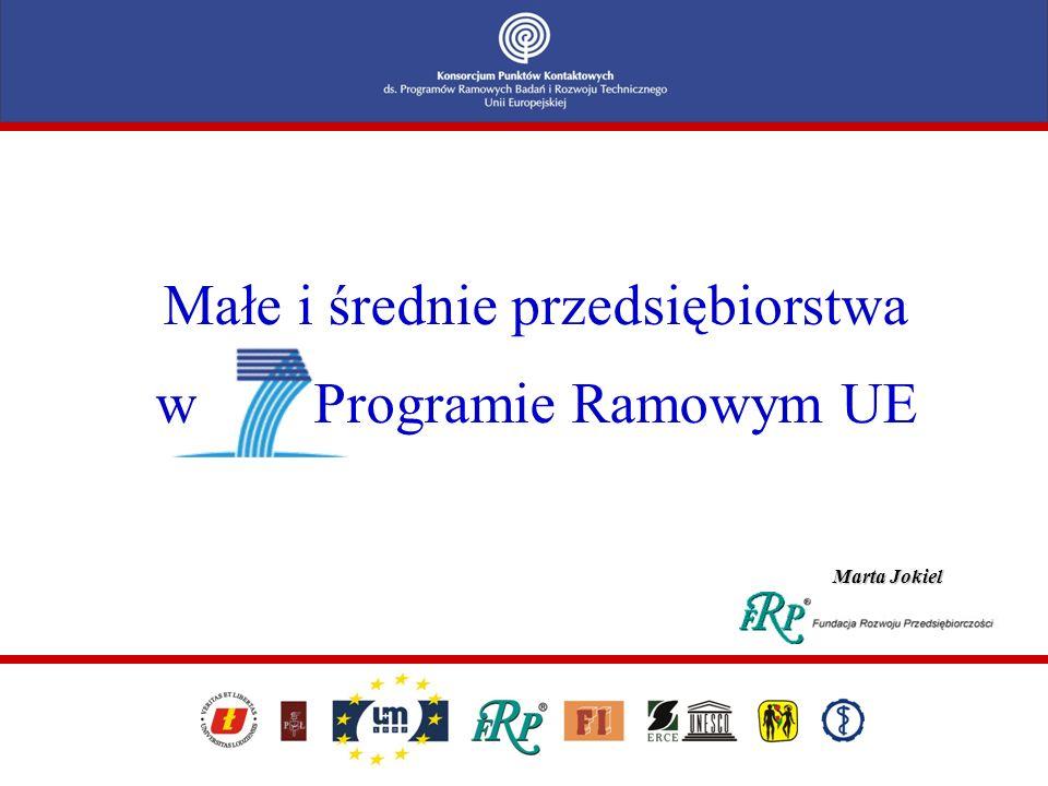 Małe i średnie przedsiębiorstwa w Programie Ramowym UE