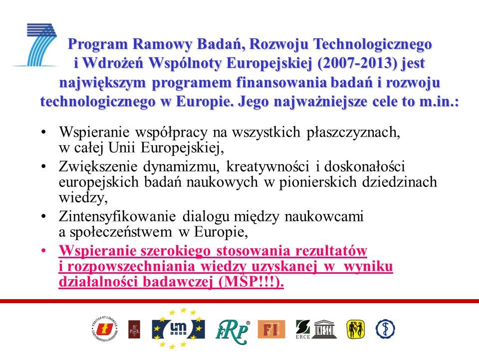 Program Ramowy Badań, Rozwoju Technologicznego i Wdrożeń Wspólnoty Europejskiej (2007-2013) jest największym programem finansowania badań i rozwoju technologicznego w Europie. Jego najważniejsze cele to m.in.: