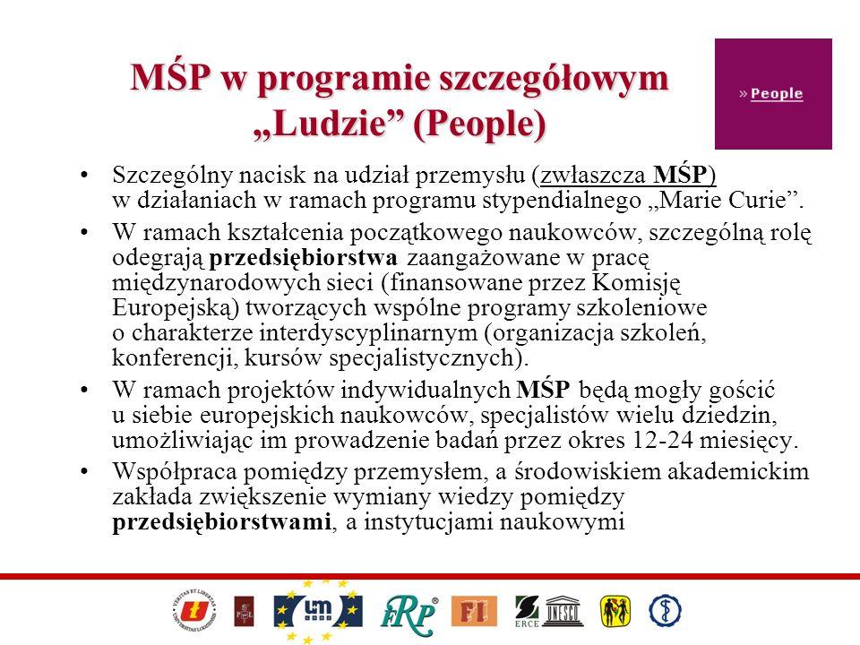 """MŚP w programie szczegółowym """"Ludzie (People)"""