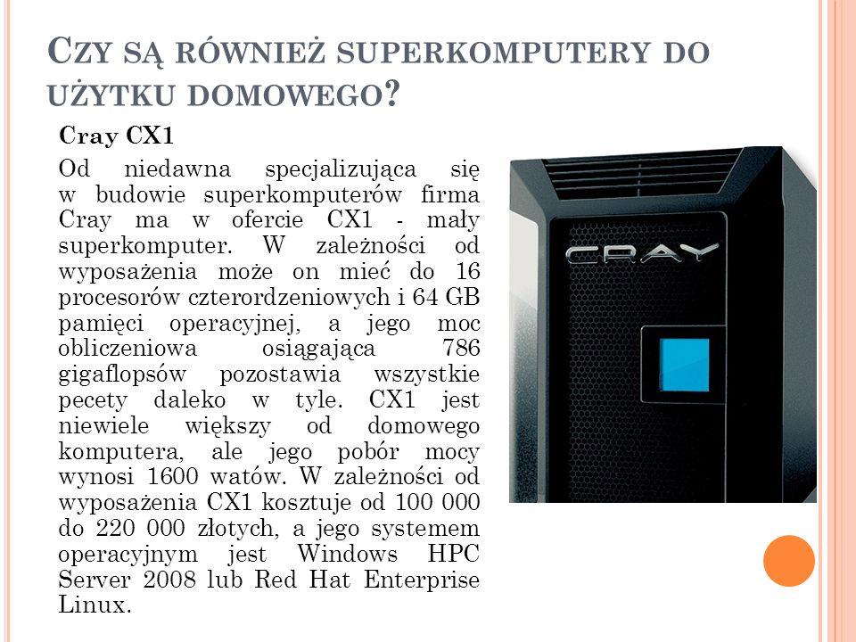 Czy są również superkomputery do użytku domowego