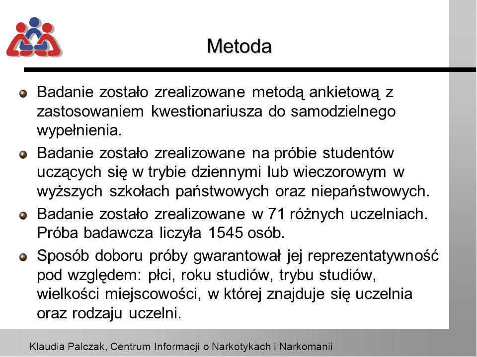 MetodaBadanie zostało zrealizowane metodą ankietową z zastosowaniem kwestionariusza do samodzielnego wypełnienia.