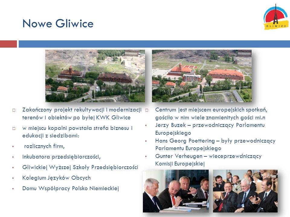 Nowe Gliwice Zakończony projekt rekultywacji i modernizacji terenów i obiektów po byłej KWK Gliwice.