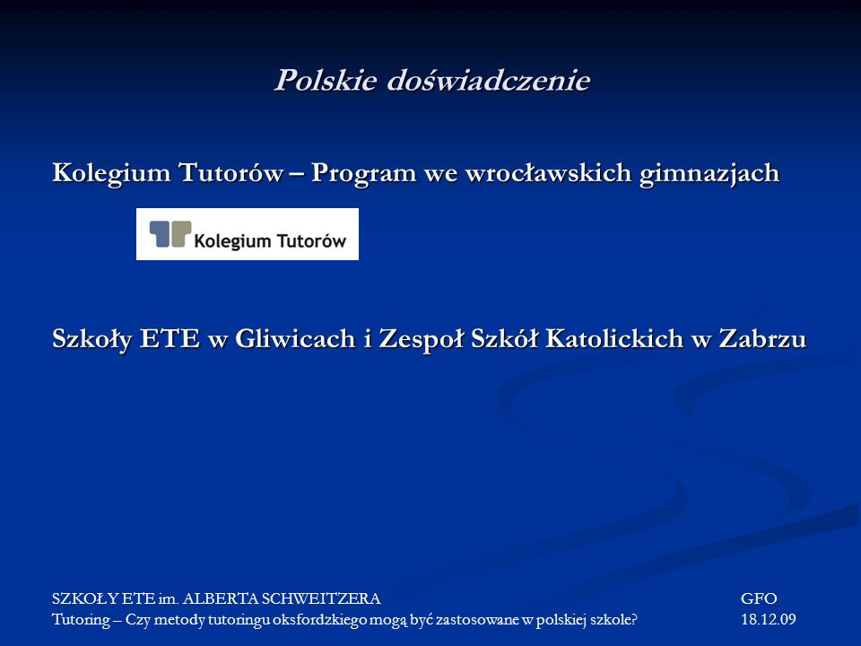 Polskie doświadczenie