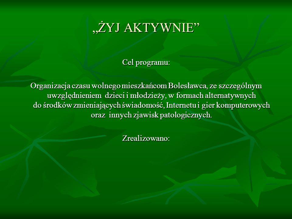 """""""ŻYJ AKTYWNIE Cel programu:"""