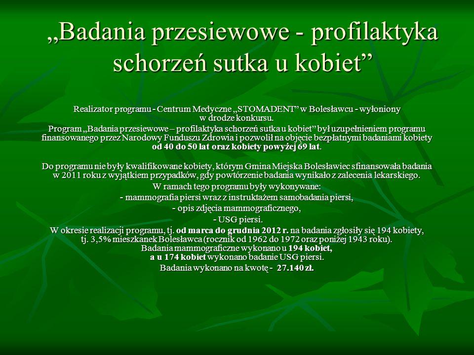 """""""Badania przesiewowe - profilaktyka schorzeń sutka u kobiet"""