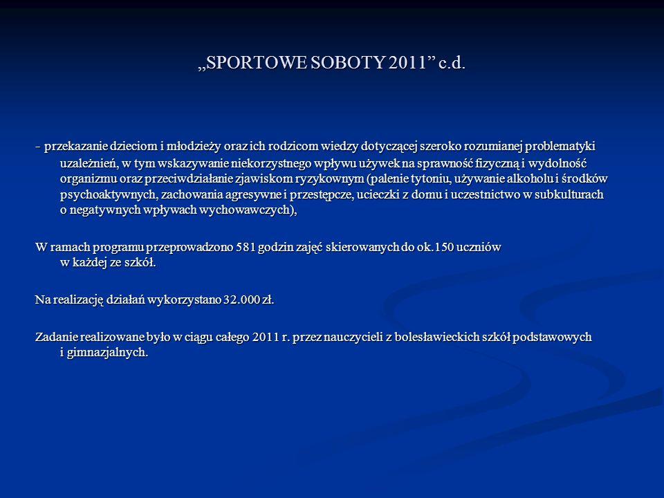 """""""SPORTOWE SOBOTY 2011 c.d."""