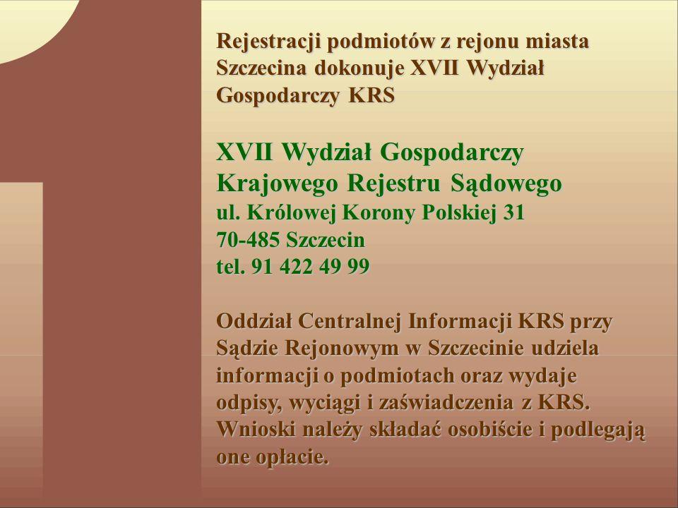 XVII Wydział Gospodarczy Krajowego Rejestru Sądowego