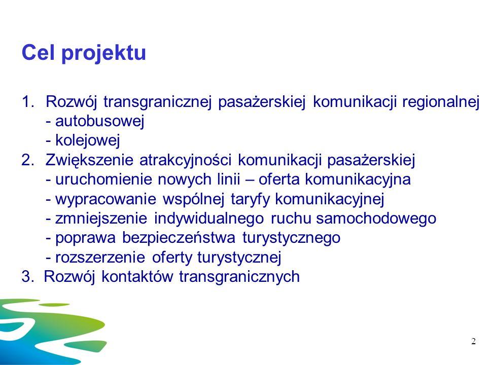 2017-03-26 Cel projektu. Rozwój transgranicznej pasażerskiej komunikacji regionalnej. - autobusowej.